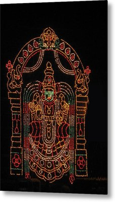 Lighted Durga Metal Print by Umesh U V