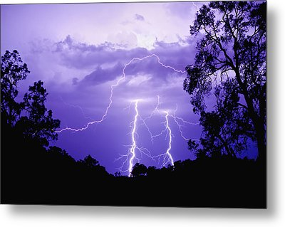 Lightening Bolts Metal Print by Michelle Wrighton