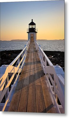 Lighthouse Boardwalk Metal Print by Benjamin Williamson