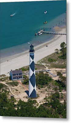 Lighthouse From Above Metal Print by Betsy C Knapp