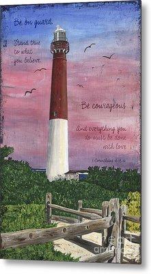 Lighthouse Inspirational Metal Print by Debbie DeWitt