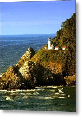 Lighthouse On The Oregon Coast Metal Print by Marty Koch