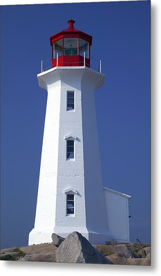 Lighthouse Peggy's Cove Metal Print by Garry Gay