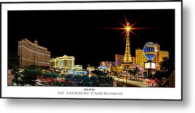 Lighting Up Vegas Poster Print Metal Print by Az Jackson