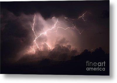 Lightning 2 Metal Print by Bob Christopher