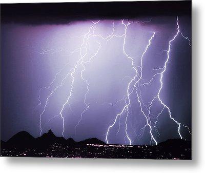 Lightning Storm North Scottsdale Az 85255 Metal Print by James BO  Insogna