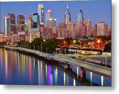 Lights In The Big City Metal Print by Skyline Photos of America