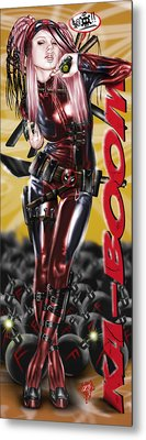 Lil Miss Deadpool Metal Print by Pete Tapang
