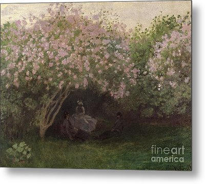 Lilacs Metal Print by Claude Monet