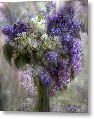 Lilacs Of Love Metal Print by Carol Cavalaris