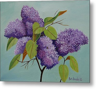 Lilacs Metal Print by Ruth  Housley