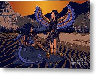Lilith And Musical Medusa Metal Print by Laura Brightwood
