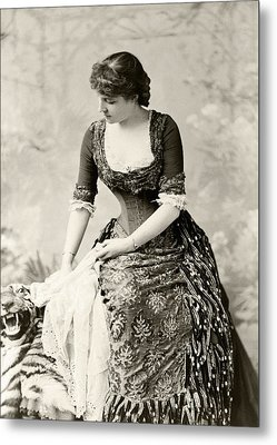 Lillie Langtry 1853 To 1929 Born Emilie Metal Print by Vintage Design Pics