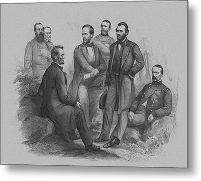 Lincoln And His Generals Metal Print by War Is Hell Store