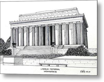 Lincoln Memorial  Metal Print by Frederic Kohli