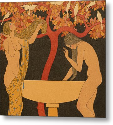 L'indifferent Metal Print by Georges Barbier