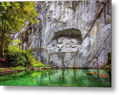 Lion Of Lucerne Metal Print by Carol Japp