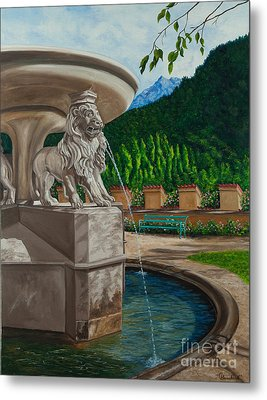Lions Of Bavaria Metal Print by Charlotte Blanchard