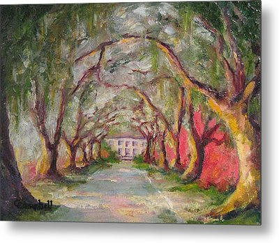 Litchfield Carriage House Metal Print by Cecelia Campbell