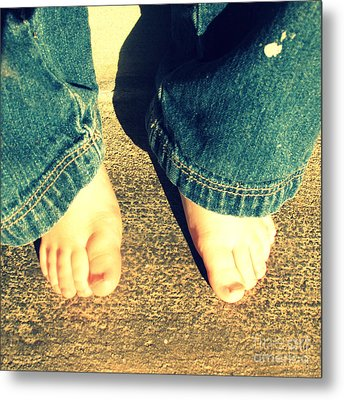 Little Boy's Bare Feet Metal Print by Trude Janssen