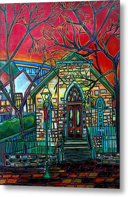 Little Church At La Villita Metal Print by Patti Schermerhorn