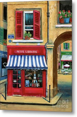 Little French Book Store Metal Print by Marilyn Dunlap