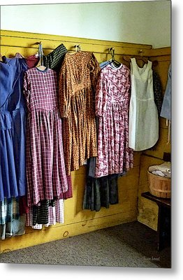 Little Girl's Gathered Dresses Metal Print by Susan Savad