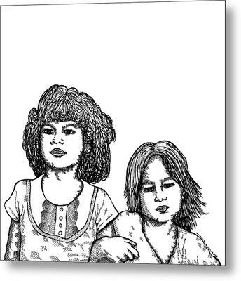 Little Girls Metal Print by Karl Addison