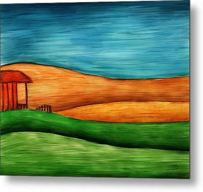 Little House On Hill Metal Print by Brenda Bryant