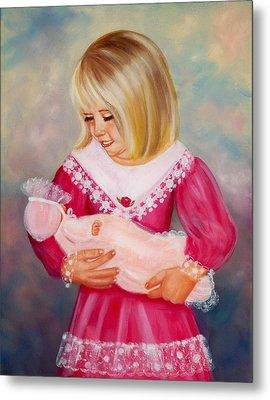 Little Mommy Metal Print by Joni McPherson