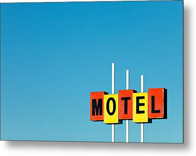 Little Motel Sign Metal Print by Todd Klassy