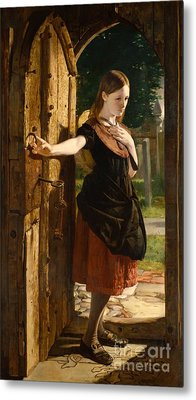 Little Nell Leaving The Church Metal Print by James Lobley