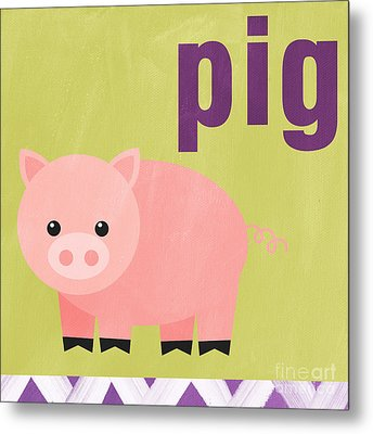 Little Pig Metal Print by Linda Woods