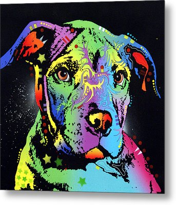 Little Pittie Warrior Metal Print by Dean Russo