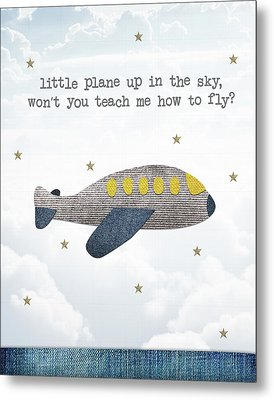 Little Plane Metal Print by Samuel Whitton