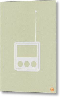 Little Radio Metal Print by Naxart Studio