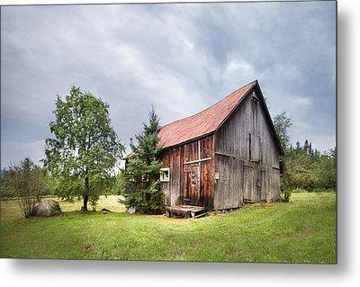 Little Rustic Barn, Adirondacks Metal Print by Gary Heller