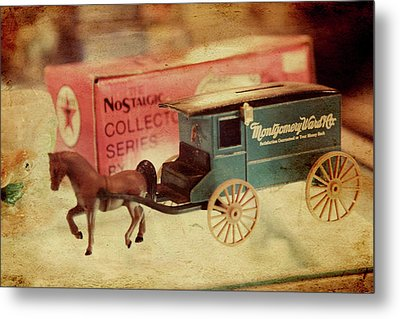 Little Stagecoach Metal Print by Toni Hopper