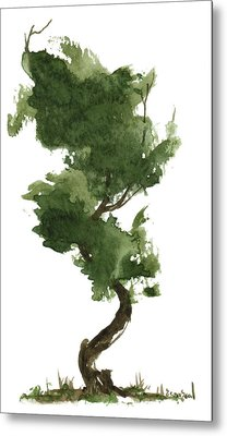 Little Zen Tree 153 Metal Print by Sean Seal