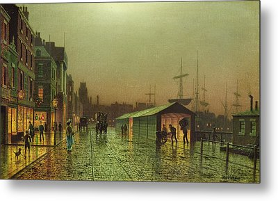 Liverpool Docks Metal Print by John Atkinson Grimshaw