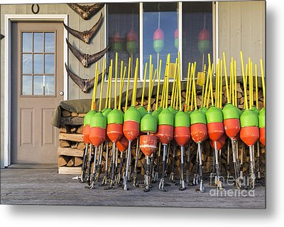 Lobster Buoys Kittery Maine Metal Print by Edward Fielding