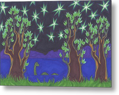 Loch Ness Night Metal Print by James Davidson