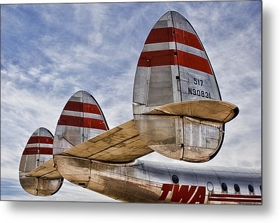 Lockheed Constellation Metal Print by Carol Leigh