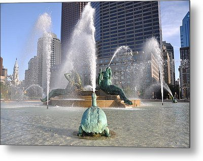 Logan Circle Fountain Metal Print by Bill Cannon
