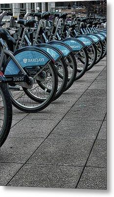 London Bicycles Metal Print by Martin Newman