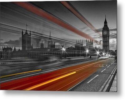 London Red Bus Metal Print by Melanie Viola