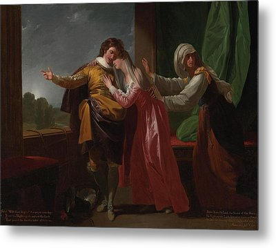 London Romeo And Juliet Metal Print by MotionAge Designs