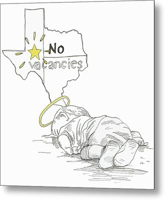 Lone Star State Of Fear Metal Print by Steve Hunter