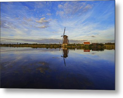 Lone Windmill Metal Print by Chad Dutson