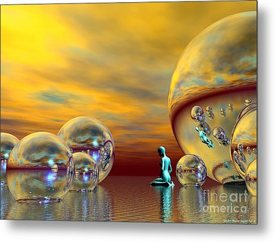 Loneliness Metal Print by Sandra Bauser Digital Art